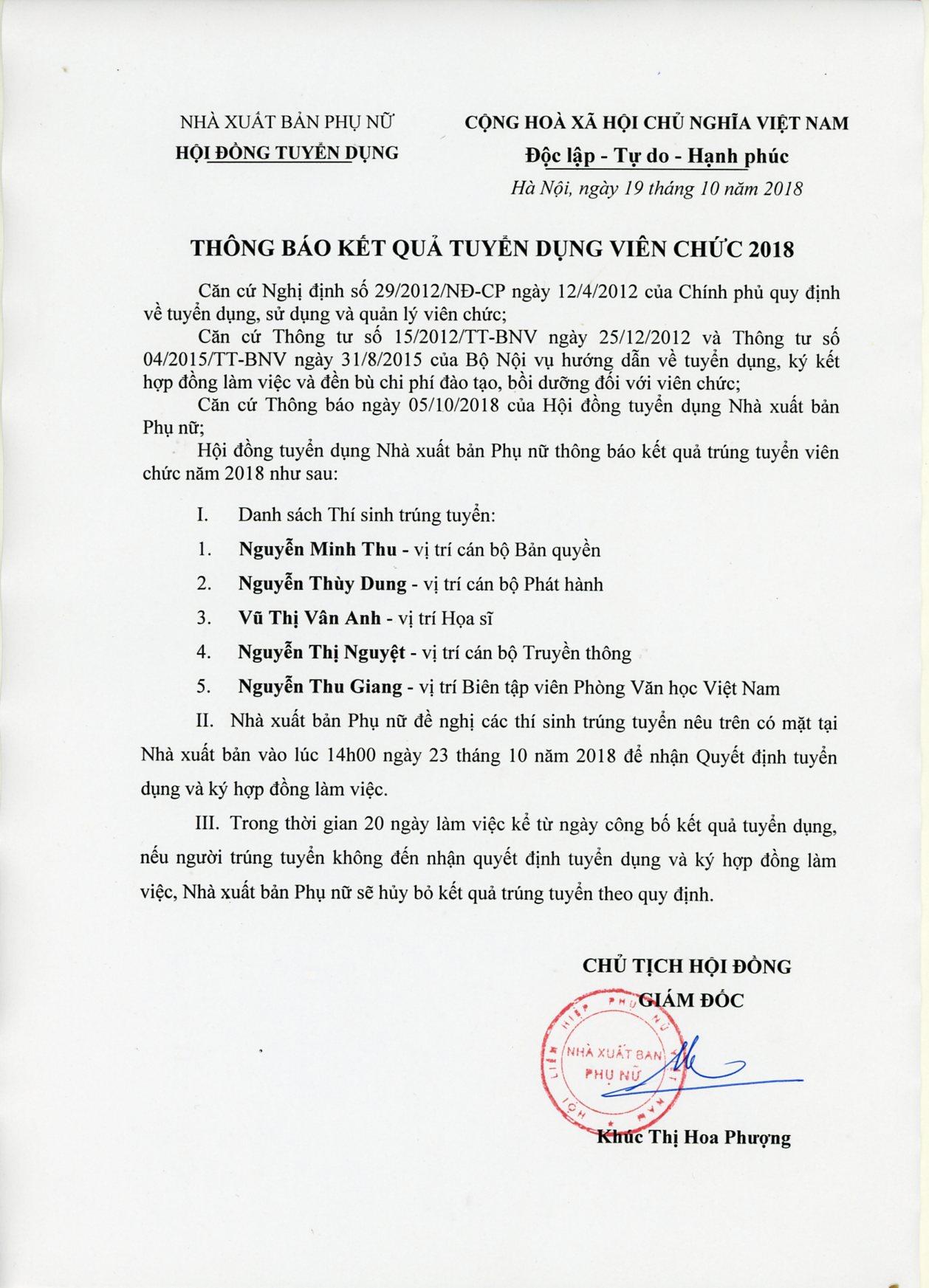 nxb-phu-nu-thong-bao-trung-tuyen